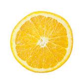 Meia fruta laranja em fundo branco, fresco e suculento — Fotografia Stock