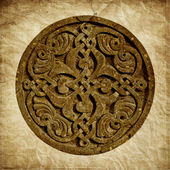Medieval Armenian ornament  on old paper background — 图库照片