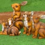 Toy rabbits — Stock Photo #26729043