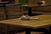 Cafe table — Stockfoto