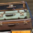 Stock Photo: Old suitcases