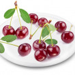 Cherries on a plate. — Stock Photo