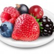 Stock Photo: Berries mix on a plate.