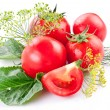 Tomatoes, cooked with herbs for preservation — Stock Photo #12178705
