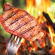 Steak on a fork. — Stock Photo #12178815