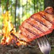 Steak on a fork. — Stock Photo #12178891