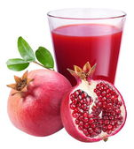 Pomegranate juice with pomegranate — Stock Photo