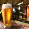 Glass of light beer — Stock Photo
