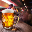Stock Photo: Glass of light beer
