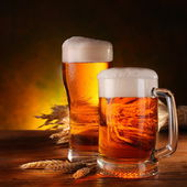 Still Life with a beer — Stock Photo