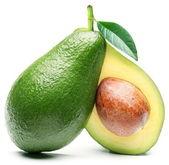 авокадо, изолированные на белом фоне. — Стоковое фото