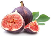 Figs with leaves. — Stock Photo