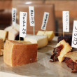 Assortment of cheeses. - Stock Photo