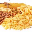 Variations of italian macaroni isolated on white background. — Stock Photo #14483075