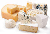 Various types of cheeses. — Stock Photo