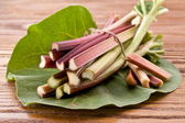 Rhubarb stalks. — Stock Photo