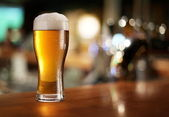 Glass of light beer. — Stock Photo