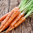 Stock Photo: Carrots with leaves