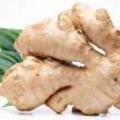 Ginger with leaves. - Stock Photo