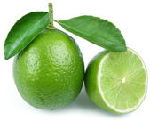 Lime with half. — Stock Photo