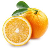 Orange with half. — Stock Photo