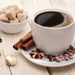 Cup of coffee with brown sugar. — Stock Photo