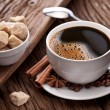 Cup of coffee with brown sugar. — Stock Photo #17984221