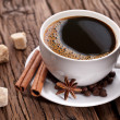Cup of coffee with brown sugar. — Stockfoto