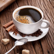 Cup of coffee with brown sugar. — Stock Photo #17984289