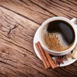Cup of coffee with brown sugar. - Stock Photo
