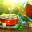 Cup of tea and teapot. — Stock Photo #19458495