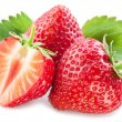Strawberries with leaves. — Stock Photo #21579637
