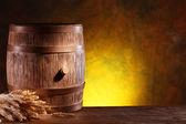 Wooden barrel. — Stock Photo