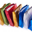 Colourful shopping bags — Stok fotoğraf