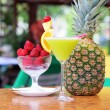 Tropical pineapple cocktail — Stock Photo #26159287
