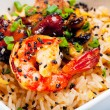 Rice with shrimps. — Stock Photo