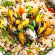 Rice with mussels. — Stock Photo