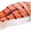 Large steak of grilled salmon. — Stock Photo