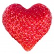 Stock Photo: Strawberry heart.