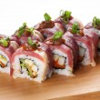 Japanese rolls with becon — Stock Photo