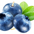 Stock Photo: Blueberries with leaves. File contains clipping paths.