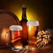 Still Life with a keg of beer — Stockfoto