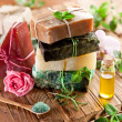 Постер, плакат: Pieces of natural soap