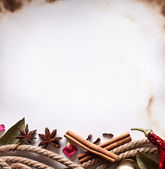 Image space of paper with cooking spices — Стоковое фото
