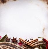 Baharat pişirme kağıdı görüntü alanı — Stok fotoğraf