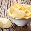 Potato chips in a bowl. — Stock Photo
