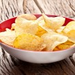 Potato chips in a bowl. — Stok fotoğraf