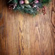 Christmas decoration with fir and baubles. — Stock Photo #36981443