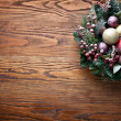 Christmas decoration with fir and baubles. — Stock Photo #36981451