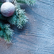 Christmas decoration with fir and baubles. — Stock Photo #36981507